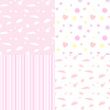 Seamless pattern for baby girls Stock Photos