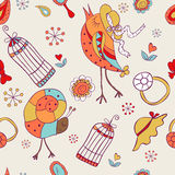Seamless pattern for baby girls Royalty Free Stock Photos