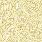 Seamless pattern baby icons Stock Photography