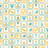 Seamless pattern of baby icons Royalty Free Stock Photos