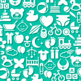 Seamless pattern with baby icons Royalty Free Stock Images
