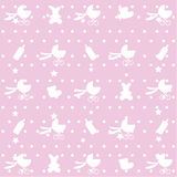 Seamless pattern of baby items. Stock Photography