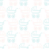 Seamless Pattern for Baby Shower Royalty Free Stock Photo