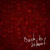 Seamless pattern back to school background Royalty Free Stock Images