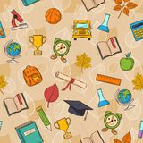 Seamless pattern Back to school Stock Images