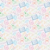 Seamless pattern Back to school Stock Photography