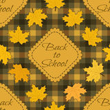 Seamless pattern Back to school. Vector illustration Stock Illustration