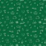 Seamless pattern Back to school. Vector illustration: wallpaper, surface textures and web backgrounds Royalty Free Stock Image