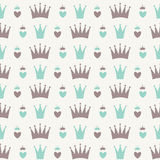 Seamless Pattern Background公主 图库摄影