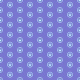 Seamless Pattern Background公主 库存例证