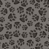 Seamless pattern background with abstract animal. Footprints Royalty Free Illustration