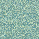 Seamless pattern or background with abstract protozoa Stock Image
