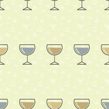 Seamless pattern background alcoholic beverages. Alcohol vector. Drinks by the glass Stock Photos