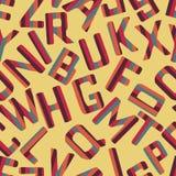 Seamless pattern background alphabet. Alphabet vector. Royalty Free Stock Image