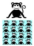 Seamless pattern background ape monkey Stock Image