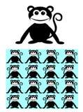Seamless pattern background ape monkey. Seamless pattern Stock Image