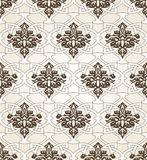 Seamless pattern background in Arabian style. Geometric textures. Vector illustration Royalty Free Stock Photo