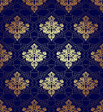 Seamless pattern background in Arabian style. Geometric textures. Vector illustration Royalty Free Stock Images