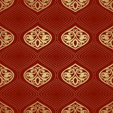 Seamless pattern background in Arabian style. Geometric textures. Vector illustration Stock Images
