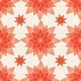Seamless pattern background with artificial red flowers made from plastic. Vector illustration. Floral Wallpaper Stock Photo