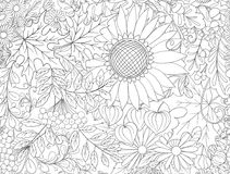 Seamless pattern, background with autumn flowers Stock Photos