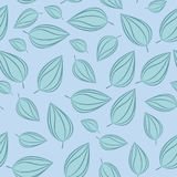 Seamless pattern background with autumn leaves. Vector illustration. Royalty Free Stock Image