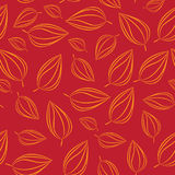 Seamless pattern background with autumn leaves. Vector illustration. Stock Photography