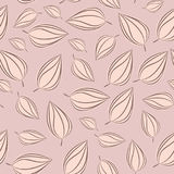 Seamless pattern background with autumn leaves. Vector illustration. Royalty Free Stock Images