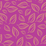Seamless pattern background with autumn leaves. Vector illustration. Stock Image