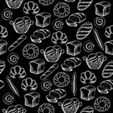 Seamless pattern background bakery package. Stock Photos