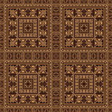 Seamless pattern background in beige and black colors. Stock Images