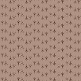 Seamless pattern background bird footprint. Prints vector. Brown wallpaper. Royalty Free Stock Photography