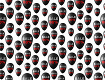 Seamless pattern background with black balloons. Seamless pattern background on Black Friday with black balloons on which show discounts. Vector Illustration Stock Photos