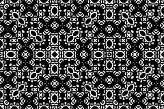 Seamless pattern background in black and white. Vintage and retro abstract ornamental design. Simple flat royalty free illustration