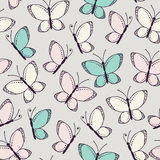 Seamless pattern background with butterflies Stock Image