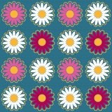 Seamless pattern background with chamomiles, colorful illustration. Eps10 royalty free illustration