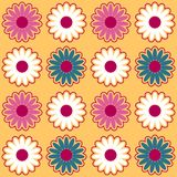 Seamless pattern background with chamomiles, colorful illustration. Eps10 stock illustration