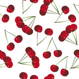 Seamless pattern background with cherries Royalty Free Stock Image