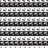 Seamless pattern background in cherry. Berries black and white. Stock Photos