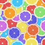 Seamless pattern background citrus. Wallpaper fruit Stock Image
