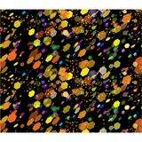 Seamless pattern background with colored dots spots bokeh on bla. Abstract vector seamless pattern background with colored dots spots looking like bokeh on black Stock Photo