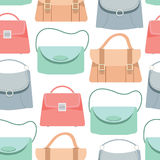Seamless pattern background of colorful bags Royalty Free Stock Photos