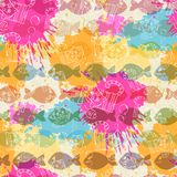 Seamless pattern on the background of colorful Royalty Free Stock Image