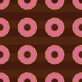 Seamless pattern background with colorful donuts,  illustration. Pattern seamless  illustration. Concept background picture Royalty Free Stock Photography