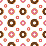 Seamless pattern background with colorful donuts,  illustration. Pattern seamless  illustration. Concept background picture Stock Photos