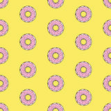 Seamless pattern background with colorful donuts, vector illustration. Pattern seamless vector illustration. Concept background picture Royalty Free Stock Photo