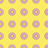 Seamless pattern background with colorful donuts, vector illustration. Pattern seamless vector illustration. Concept background picture Stock Images