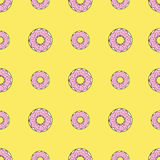 Seamless pattern background with colorful donuts, vector illustration. Pattern seamless vector illustration. Concept background picture Royalty Free Stock Photography
