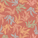 Seamless pattern background of colorful leaf flower Royalty Free Stock Photo