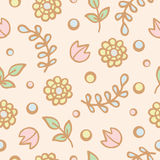 Seamless pattern background of cute flowers Stock Image